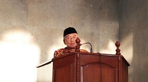 Dr. Busyro Muqoddas di Pengajian Ahad Pagi Masyarakat Madani Masjid At-Taqwa Bojonegoro